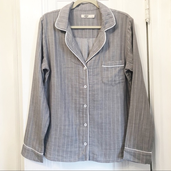 UGG Other - UGG Australia gray cotton pajama button down shirt
